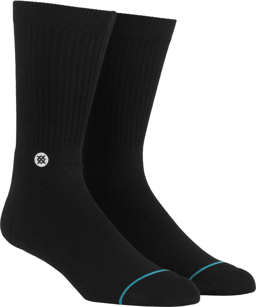 Icon Socks Blk Mens/Lrg