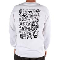 Spooky From Now On L/S Tee Wht/Blk Lrg