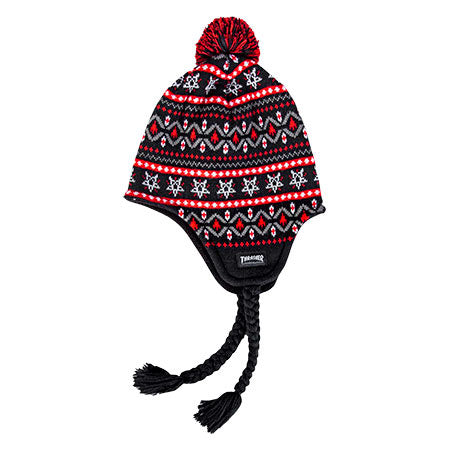 Logo Sherpa Beanie Blk/Red OS