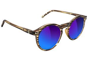 TimTim Premium Polarized Pro Sunglasses Honey/Blu Mirror OS