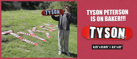 Tyson Peterson Logo Pro Deck (size options listed)