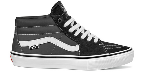 Skate Grosso Mid Shoe Blk/Wht/Emo Leather (size options listed)