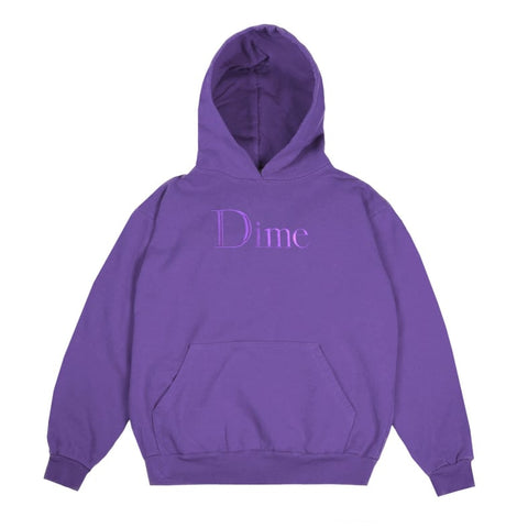 Dime Classic Logo Embroidered Hoodie Purple (size options listed)