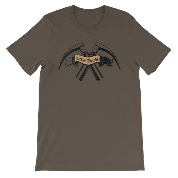 Crossed-Laryngoscpe-Logo-T-shirt-brown