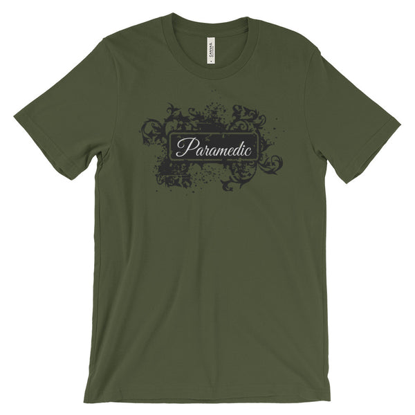 Paramedic-Medic-Flair-T-Shirt-olive-green