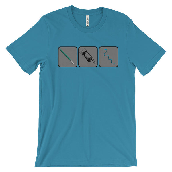 Scalpel-Finger-Bougie-T-Shirt-Blue
