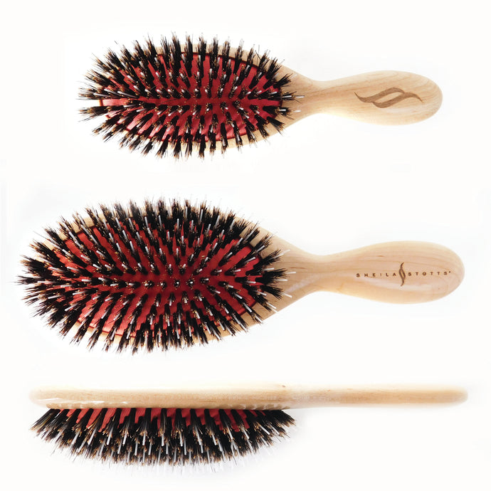 Sheila Stotts Mixed Natural Boar & Nylon Bristle Brushes