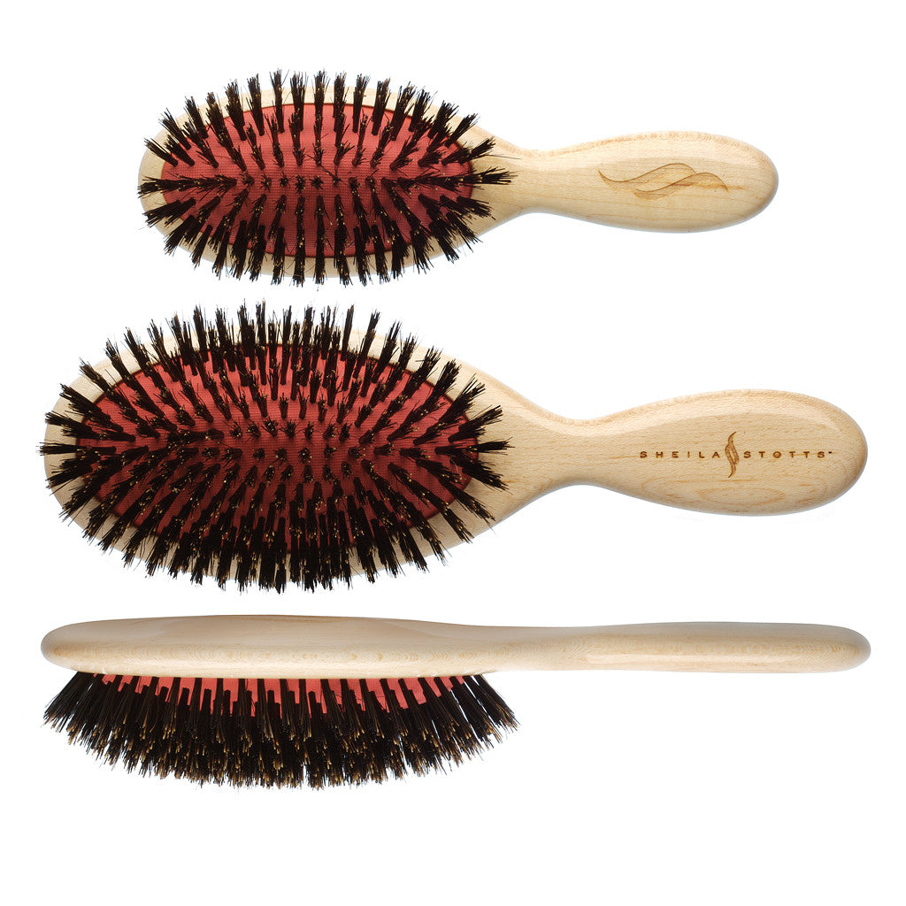 Sheila Stotts Natural Boar Bristle Brushes