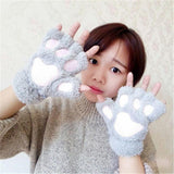 Gloves - Bear Paw Plush Finger Gloves