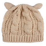 Knitted Hat - Cute Cat Ears Knitted Hat