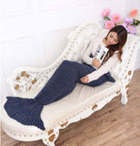 Mermaid Tail Blanket - Knitted Mermaid Tail Blanket