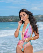 "Lola Halter One Piece Swimsuit ""Miss Puerto Rico"""