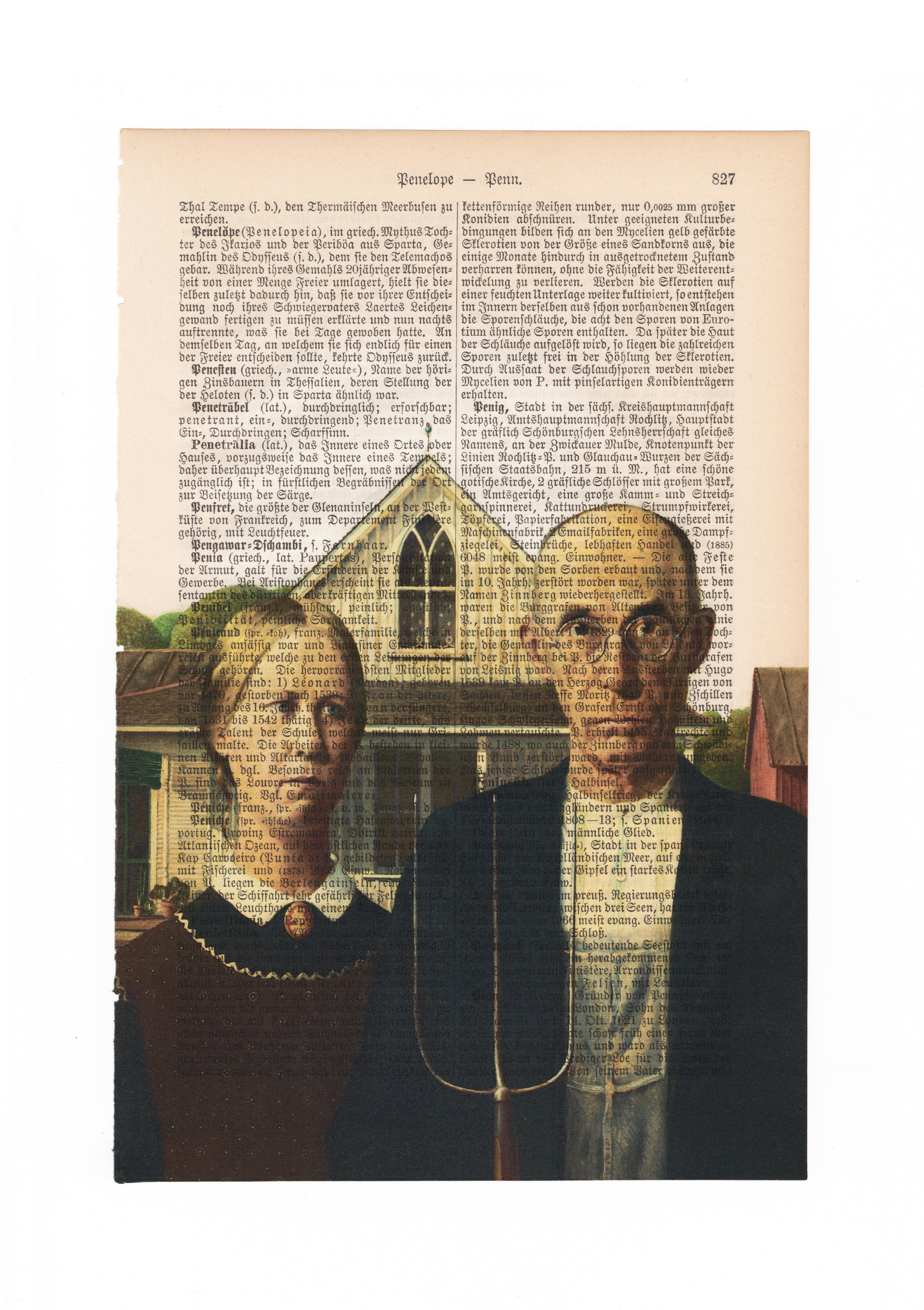 American Gothic - Grant Wood - Art on Words