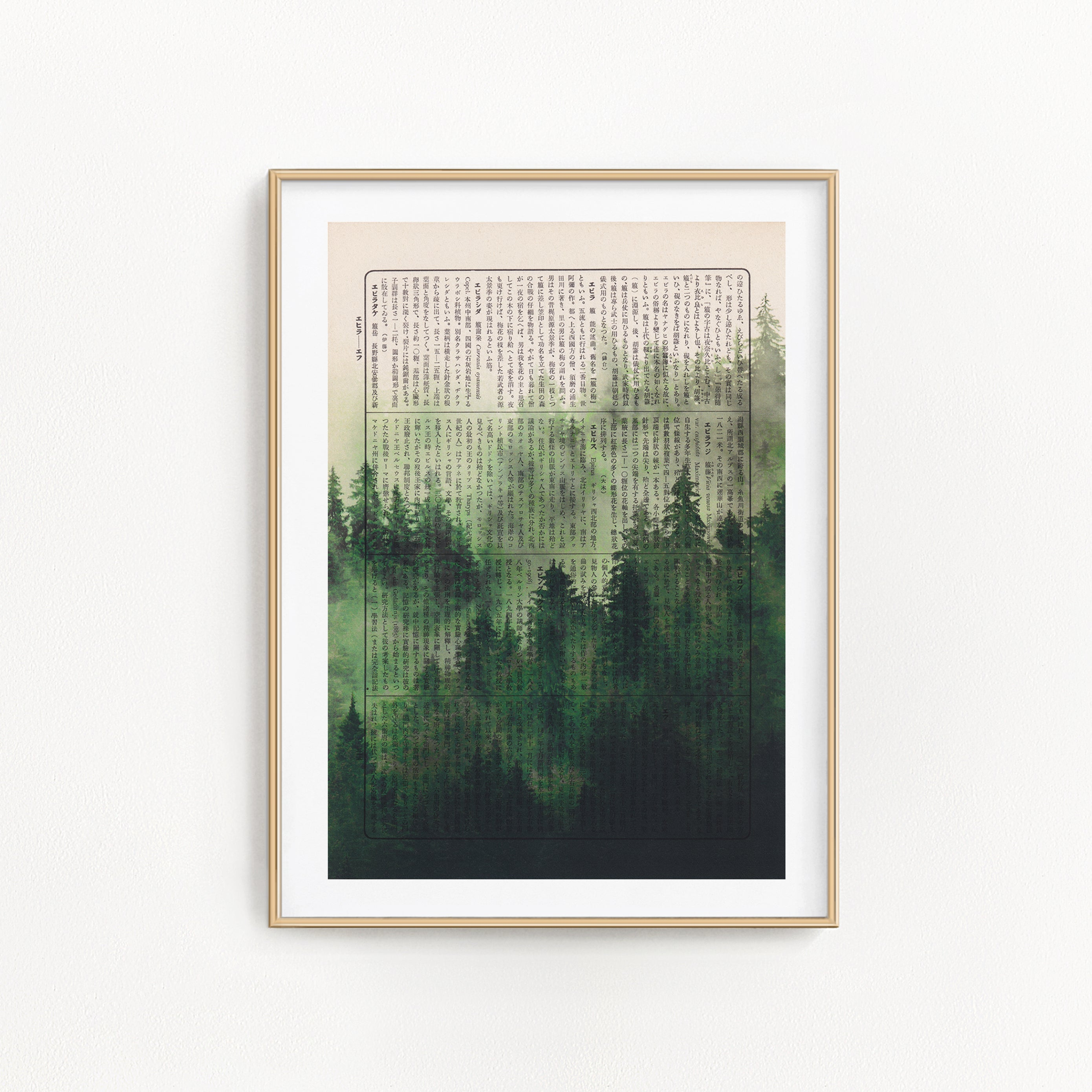 Japanese Misty Forest - Art on Words