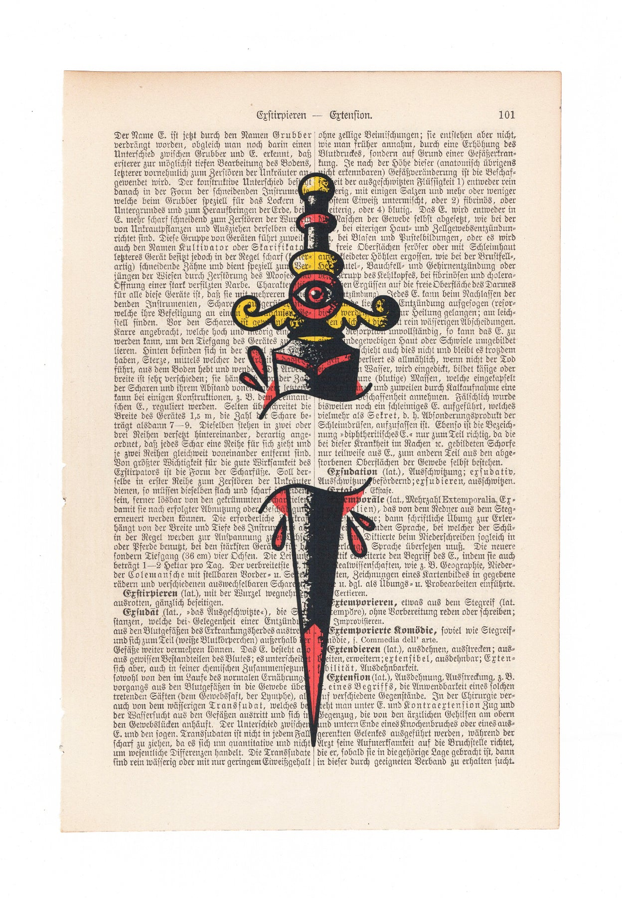 Old School Dagger - Art on Words