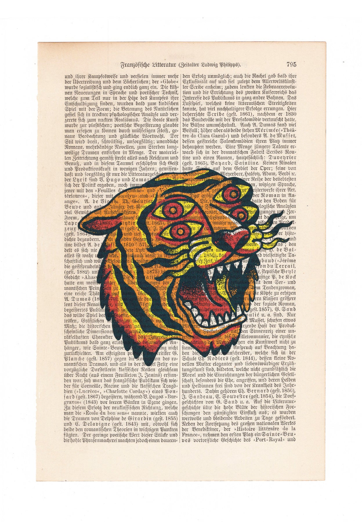 Old School Tiger - Art on Words
