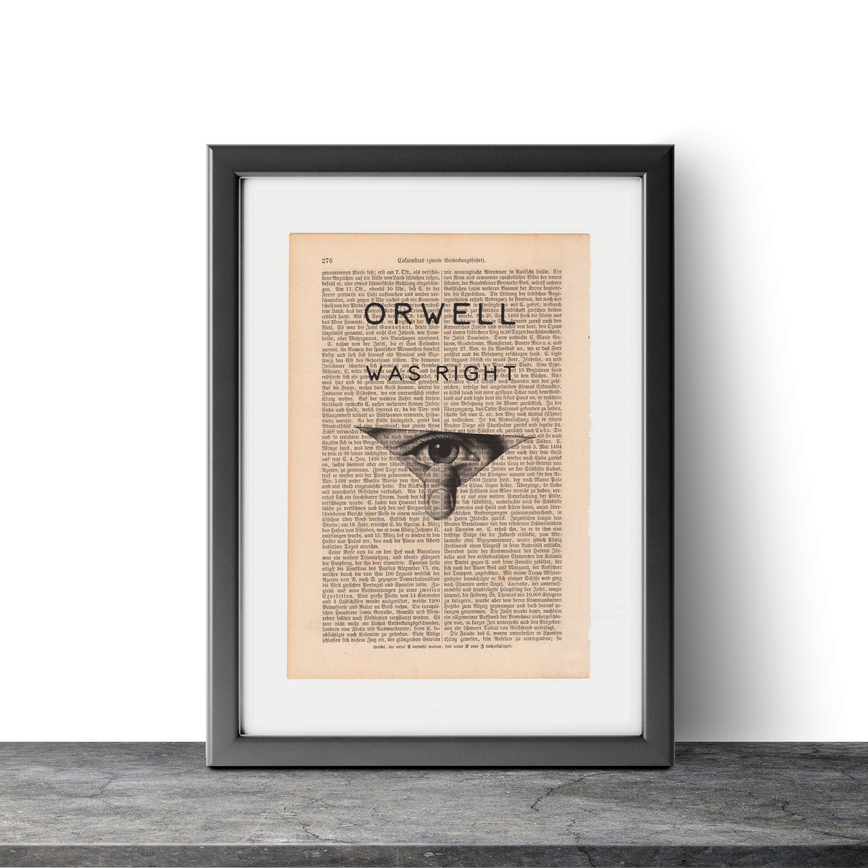 Orwell Was Right - Art on Words