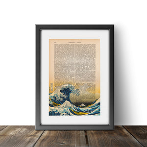 The Great Wave off Kanagawa - Katsushika Hokusai - Art on Words