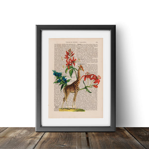 Flower Giraffe - Art on Words