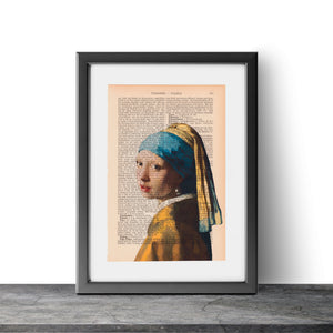 Girl with a Pearl Earring - Johannes Vermeer - Art on Words
