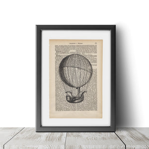 Hot Air Balloon - Art on Words