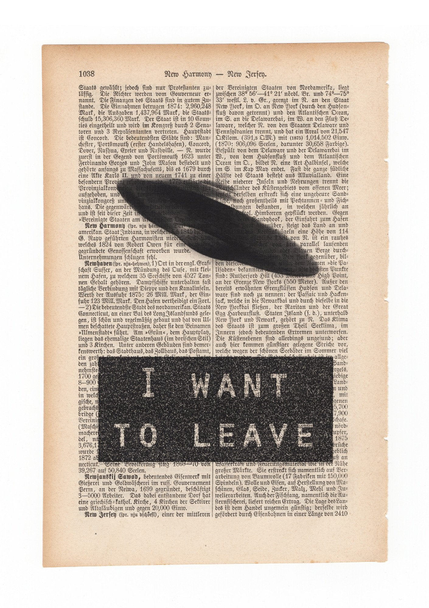 I want to leave - Art on Words