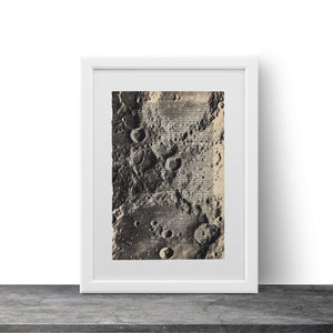 Moon surface - Art on Words