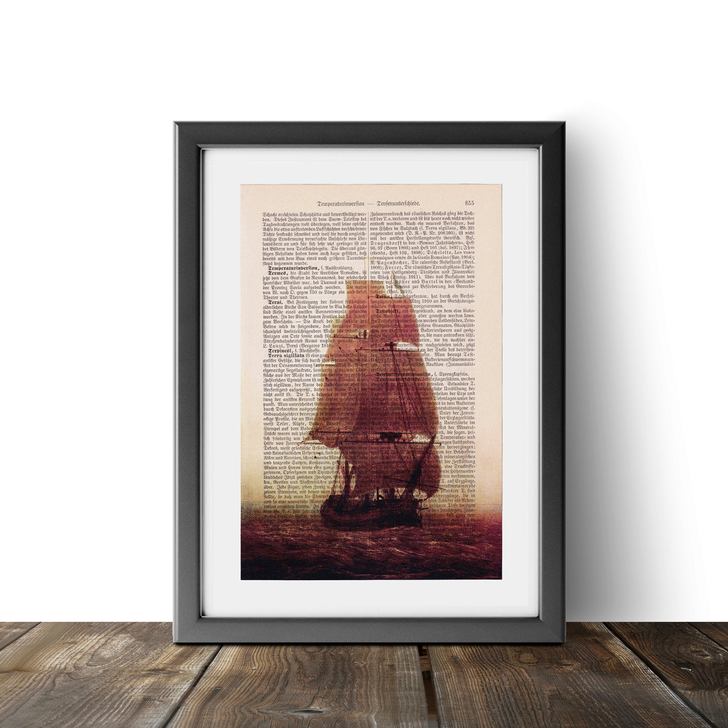 Sailing ship - Caspar David Friedrich - Art on Words