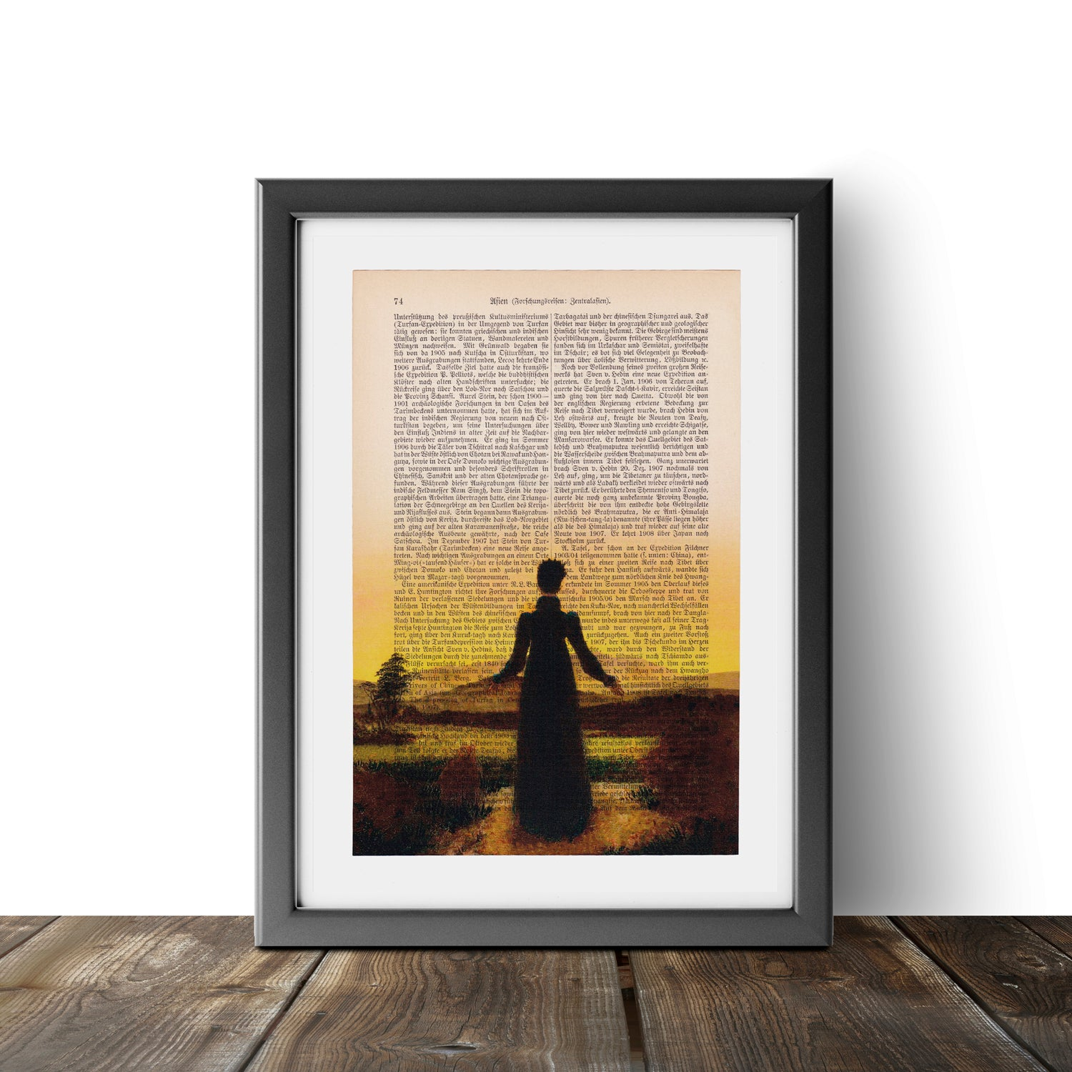A Woman at Sunset or Sunrise - Caspar David Friedrich - Art on Words