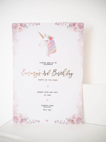 Unicorn Invitations