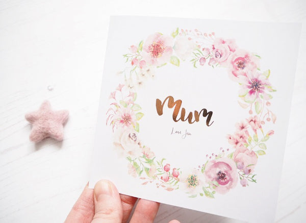 Floral Wreath Card