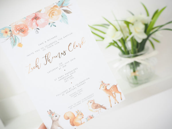 Woodland Invitations