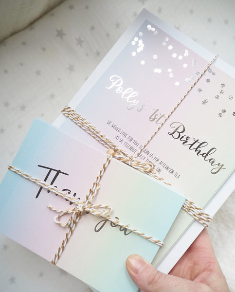 Pastel Rainbow Invitations