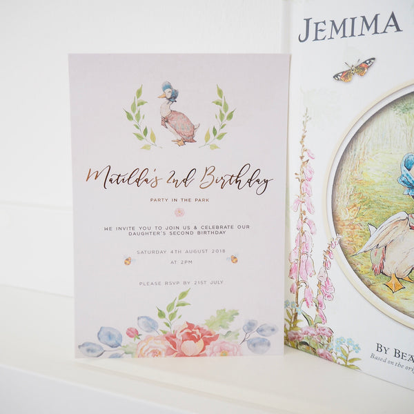 Jemima Puddleduck Invitations