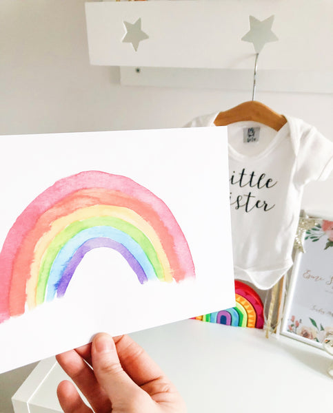 Watercolour Rainbow Print