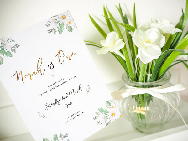 Daisy Invitations