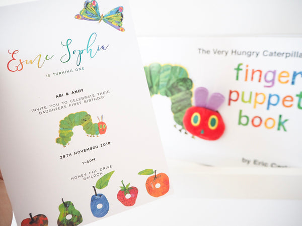 The Very Hungry Catterpillar Invitations