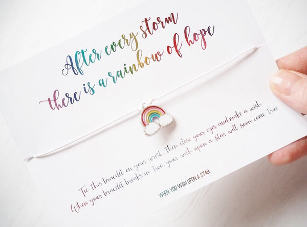 'After Every Story There Is A Rainbow Of Hope' Wish Bracelet