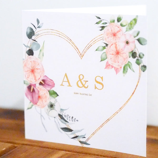 Floral Heart Valentine's Day Card