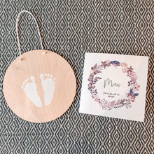 Wooden baby hand & footprint keepsake