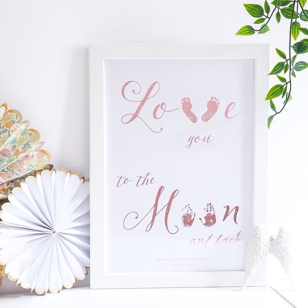 Love you to the moon & back baby prints