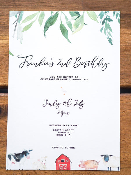 Farmyard Invitations