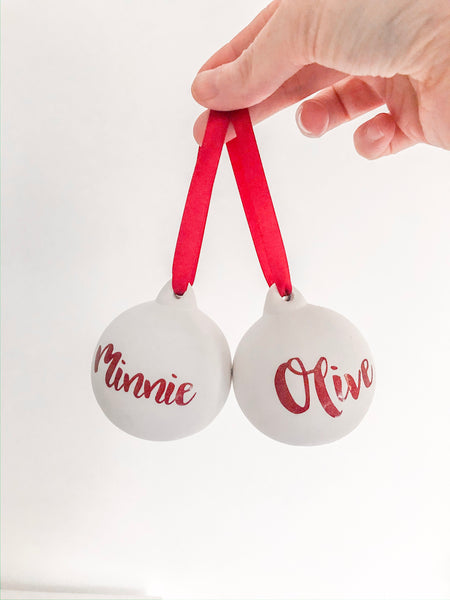 Red Glitter Bauble