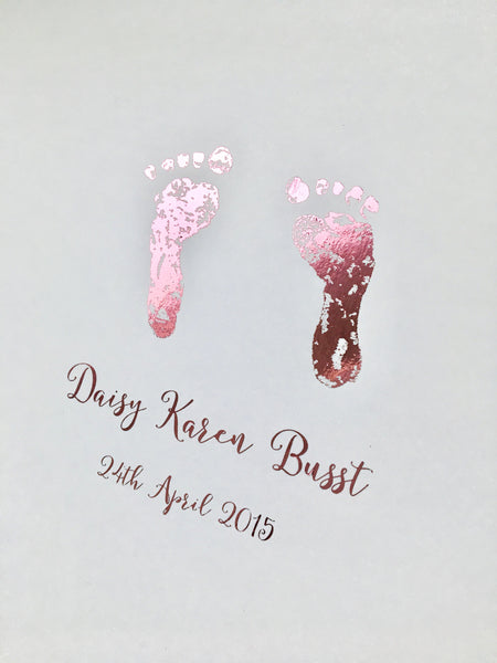 Foil Baby Hand & Footprint Keepsakes