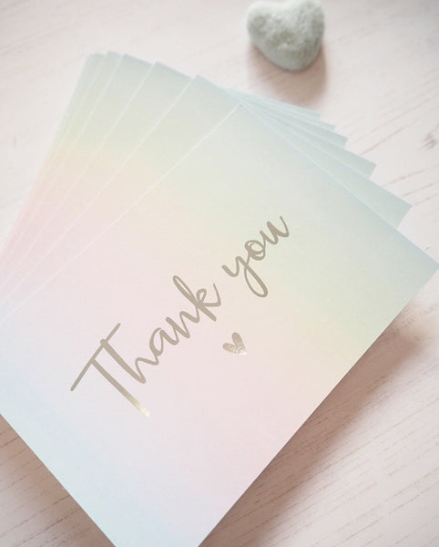 Pastel Rainbow Thank You Cards