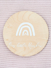 Rainbow baby announcement plaque
