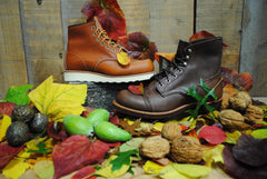 Red Wing 875 and 6114 with leaves