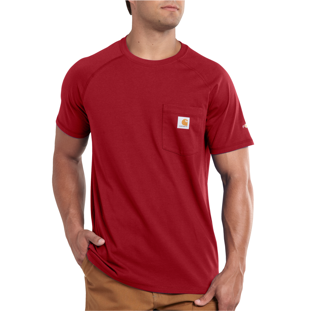 Carhartt 100410 Delmont Pocket T-shirt Crimson