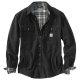 Carhartt 100590 Weathered Canvas Shirt-Jac Black Carbon Heather