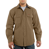 Carhartt 100590 Weathered Canvas Shirt-Jac Frontier Brown Navy